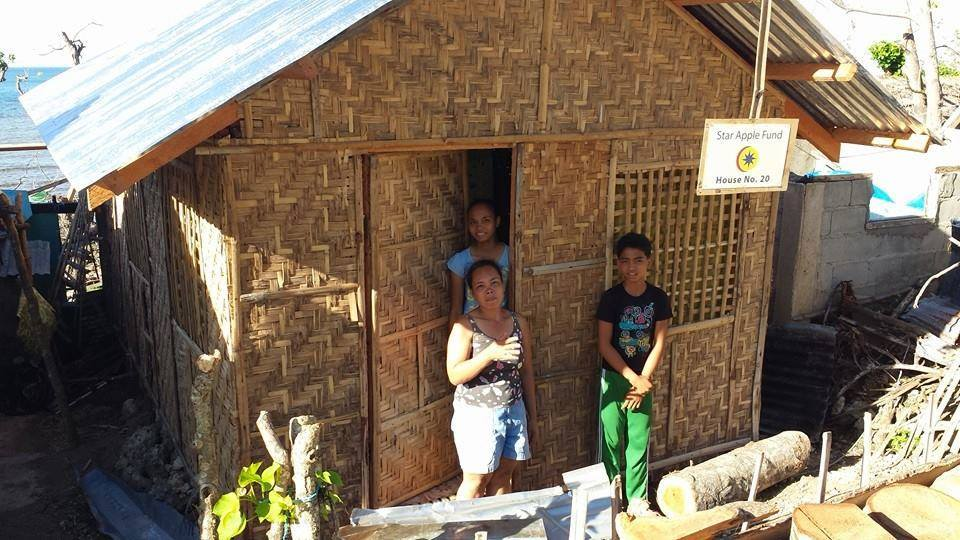 A fi nished Star Apple Leyte Fund House Number 20 in Tabango with its recipients