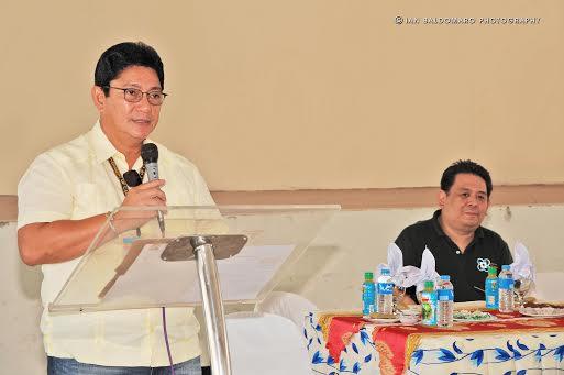 "Calbayog City Mayor Ronaldo Aquino expresses his confidence that Calbayog will join the ""BPO cities"" in the country, generating employment for the city. photo by IAN VILLANUEVA BALDOMARO)"