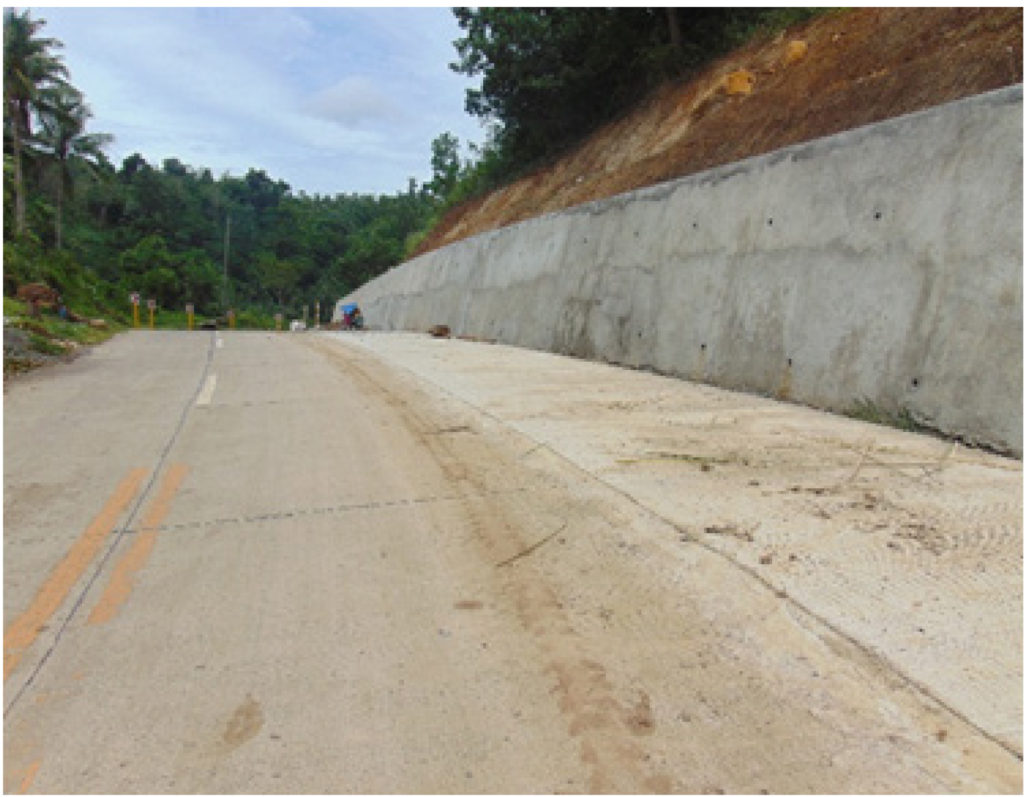 Completed construction of slope protection along Naval-Caibiran Cross Country Road (NCCR). The project has a cost of P41.6 million.